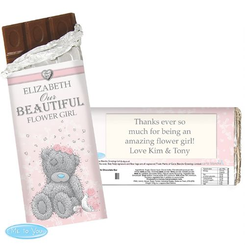 Personalised Me To You Girls Wedding Chocolate Bar